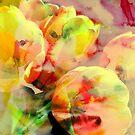 Tulips.Digital watercolor Painting. by Vitta