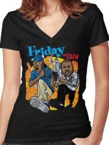 Friday the 13th Women's Fitted V-Neck T-Shirt