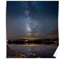 Vertical Milky Way Reflection Poster