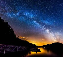 Cascade Lake Milky Way Panoramic by Cody  Limber