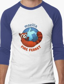 Mozilla Fire Ferret Men's Baseball ¾ T-Shirt