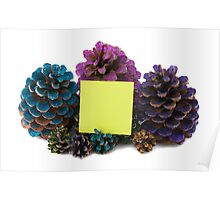 nine  pineapples with paper Poster