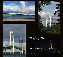 Mackinac Bridge Collage by marybedy