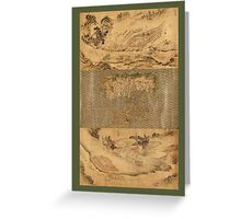 Military Maps of Camps Across Russia & China 1700 Greeting Card