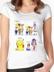 pokemon meme Women's Fitted Scoop T-Shirt