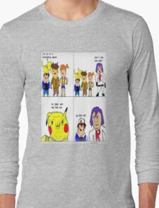 pokemon meme Long Sleeve T-Shirt