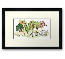 Permaculture Pigs Framed Print