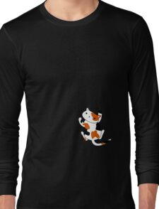 Excuse me, there's a calico kitten on your shirt. Long Sleeve T-Shirt