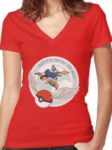 Gotta Catch 'Em All Women's Fitted V-Neck T-Shirt