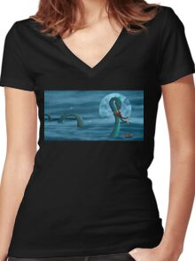 Old Friends Women's Fitted V-Neck T-Shirt