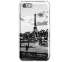 The sun goes down on Place de la Concorde in Paris iPhone Case/Skin