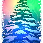 Snowy Christmas Tree Card by Caites