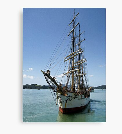 Picton Castle at the end of the voyage........! Canvas Print