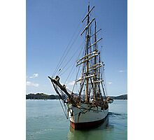 Picton Castle at the end of the voyage........! Photographic Print
