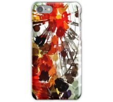 Ferris Wheel - Flashback To Childhood Fun - Digital Graphic iPhone Case/Skin