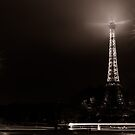 Eiffel Tower and cars, Paris, France by Olivier Sohn