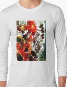 Ferris Wheel - Flashback To Childhood Fun - Digital Graphic Long Sleeve T-Shirt