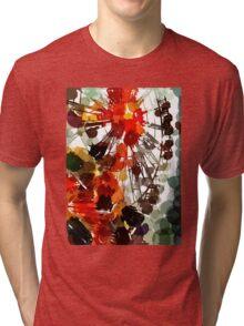 Ferris Wheel - Flashback To Childhood Fun - Digital Graphic Tri-blend T-Shirt