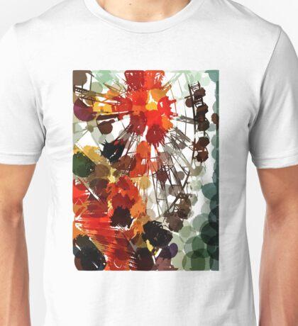 Ferris Wheel - Flashback To Childhood Fun - Digital Graphic Unisex T-Shirt