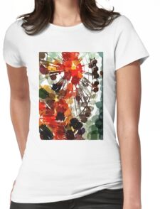 Ferris Wheel - Flashback To Childhood Fun - Digital Graphic Womens Fitted T-Shirt
