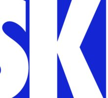 SKI EURO STICKER - BLUE Sticker