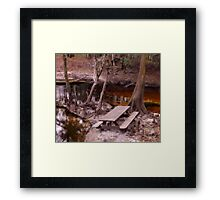 Picnic in the Creek Artistic Photograph by Shannon Sears Framed Print