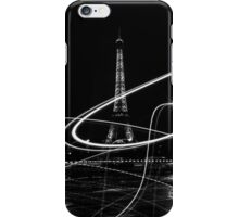Light painted Eiffel Tower, Paris, France iPhone Case/Skin