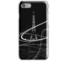 Light painted Eiffel Tower, Paris, France iPhone Case/Skin