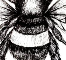 Black and White Bumble-Bee drawing. Sticker