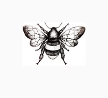 Black and White Bumble-Bee drawing. Unisex T-Shirt