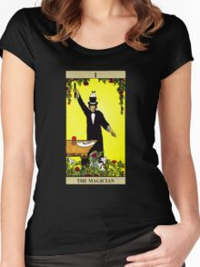 The Magician Tarot Women's Fitted Scoop T-Shirt