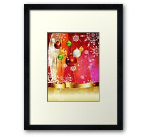 Colorful Background with Xmas Balls 3 Framed Print