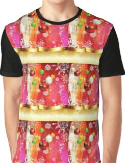 Colorful Background with Xmas Balls 3 Graphic T-Shirt
