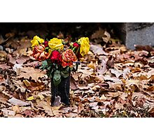 Graveside Flowers Photographic Print