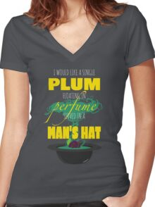 A Single Plum Women's Fitted V-Neck T-Shirt