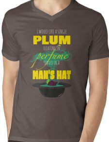 A Single Plum Mens V-Neck T-Shirt
