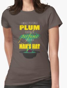 A Single Plum Womens Fitted T-Shirt