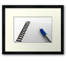 Notepad and Pen Framed Print