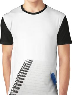 Notepad and Pen Graphic T-Shirt