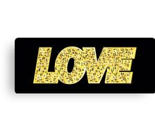 LOVE, gold letters Canvas Print