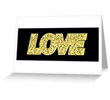 LOVE, gold letters Greeting Card