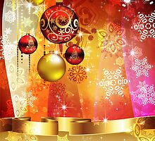 Colorful Background with Xmas Balls 4 by AnnArtshock