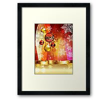 Colorful Background with Xmas Balls 4 Framed Print