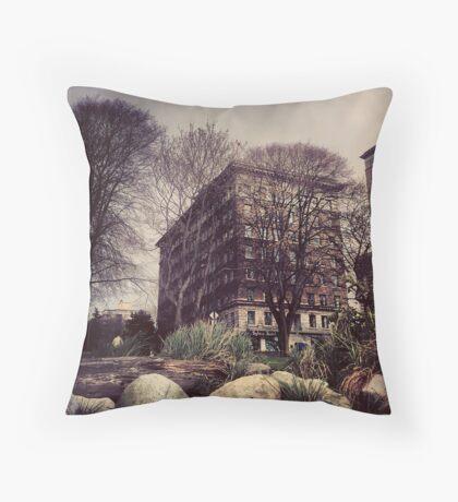 The Sylvia Hotel Throw Pillow