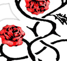 4 Red Roses Sticker