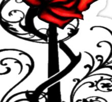 Single Red Rose Sticker