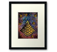 Space Pyramids Framed Print
