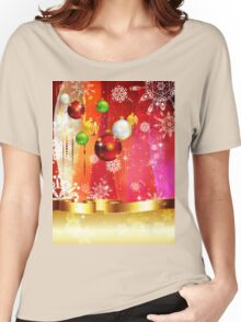 Colorful Background with Xmas Balls 3 Women's Relaxed Fit T-Shirt