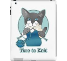 Time to Knit Siamese Cat Knitting iPad Case/Skin