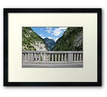 Friulian Dolomites with Foreground Barrier Framed Print